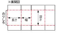 ダンボールA式箱(みかん箱)の展開図